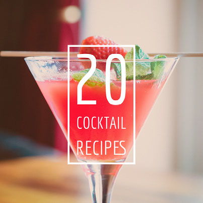 20 cocktail recipes