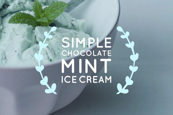 Simple Chocolate mint ice cream