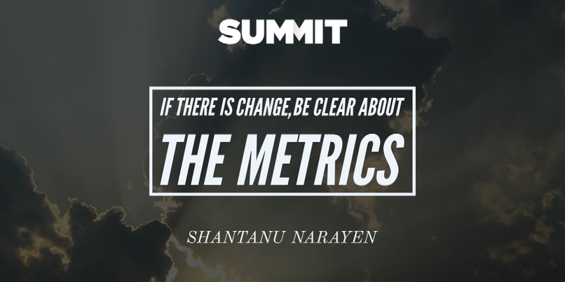 If there is change, be clear about the metrics